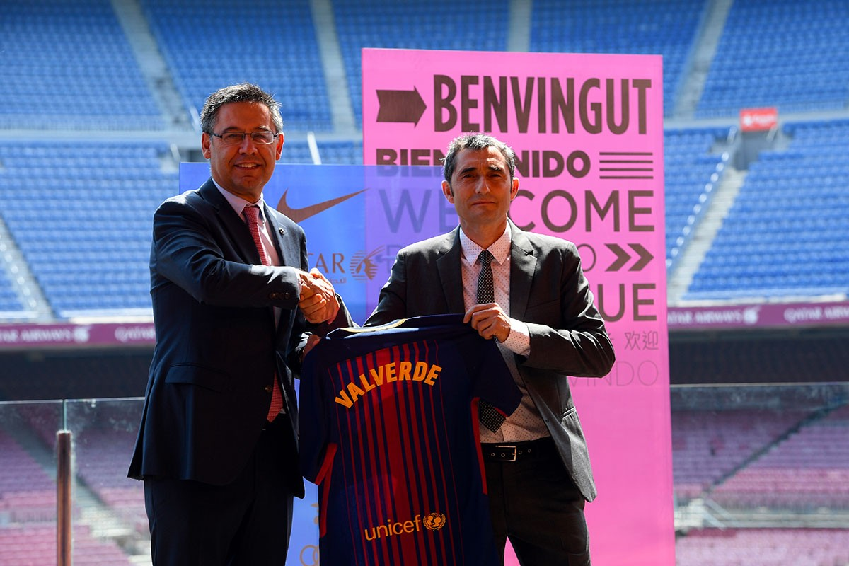 Bartomeu annonce le maintien de Valverde à la tête de l'équipe