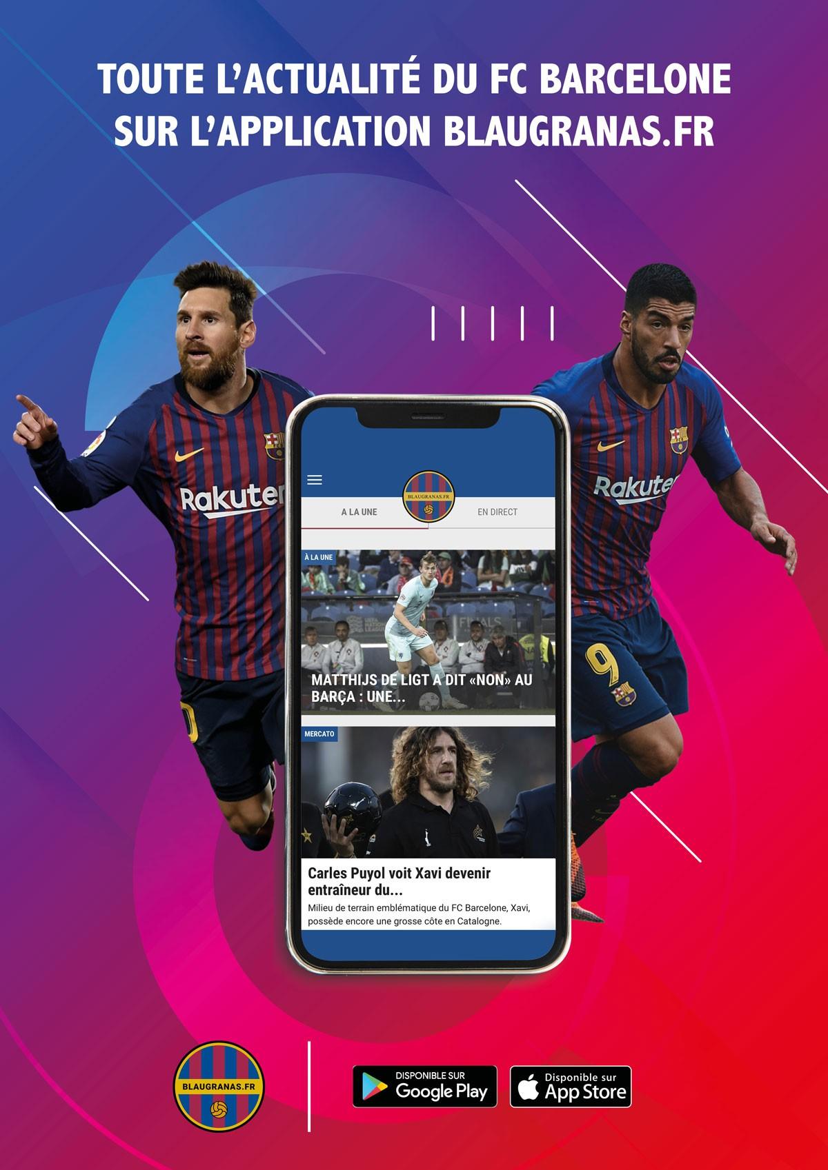 L'actualité du FC Barcelone débarque sur application mobile !